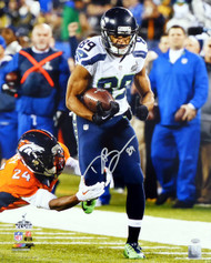 Doug Baldwin Autographed 16x20 Photo Seattle Seahawks Super Bowl In Silver MCS Holo Stock #131269