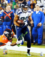 Doug Baldwin Autographed 16x20 Photo Seattle Seahawks Super Bowl In Green MCS Holo Stock #131270