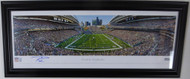 Russell Wilson Autographed Framed Seattle Seahawks Panoramic Photo RW Holo Stock #131941