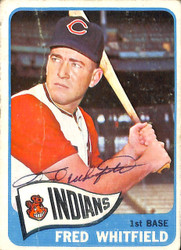 Fred Whitfield Autographed 1965 Topps Card #283 Cleveland Indians SKU #131978