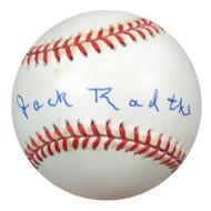 Jack Radtke Autographed NL Baseball Brooklyn Dodgers PSA/DNA #S52736