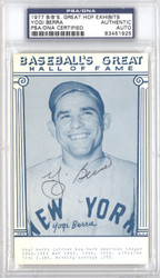 Yogi Berra Autographed 1977 Baseball's Great HOF Exhibits Postcard New York Yankees PSA/DNA #83451925
