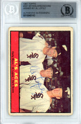 Al Lopez Autographed 1961 Topps Card #337 Chicago White Sox Beckett BAS #10540143
