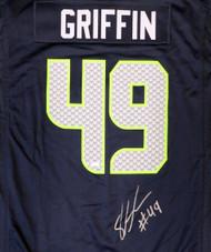 Seattle Seahawks Shaquem Griffin Autographed Blue Nike Jersey Size XXL MCS Holo Stock #134404