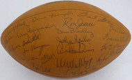 1969 Green Bay Packers Team Autographed Football With 50 Signatures Including Bart Starr PSA/DNA #AE04869
