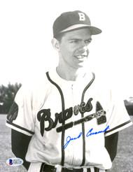 Jack Cusick Autographed 8x10 Photo Boston Braves Beckett BAS #E46318