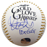 "Ichiro Suzuki Autographed Official Gold Glove Baseball Seattle Mariners ""10x GG"" IS Holo Stock #135091"