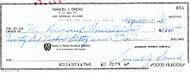 Sam Snead Autographed 3x8.5 Check #854 SKU #135164