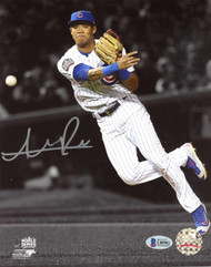 Addison Russell Autographed 8x10 Photo Chicago Cubs World Series Beckett BAS Stock #135375