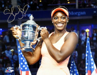 Sloane Stephens Autographed 16x20 Photo U.S. Open Beckett BAS Stock #135382