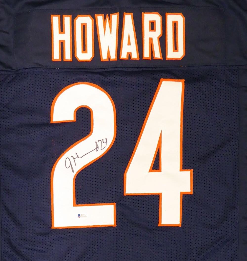 best service 1982d 86d07 Chicago Bears Jordan Howard Autographed Blue Jersey Beckett BAS Stock  #135364