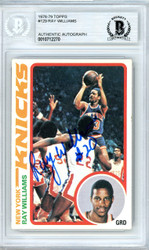 Ray Williams Autographed 1978-79 Topps Rookie Card #129 New York Knicks Beckett BAS #10712270