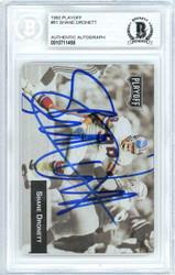 Shane Dronett Autographed 1993 Playoff Card #81 Denver Broncos Beckett BAS #10711458