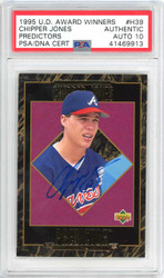 Chipper Jones Autographed 1995 Upper Deck Award Winners Card #H39 Atlanta Braves Gem Mint 10 PSA/DNA #41469913