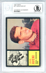 John Aveni Autographed 1962 Topps Rookie Card #171 Washington Redskins Beckett BAS #10736631