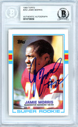 Jamie Morris Autographed 1989 Topps Rookie Card #252 Washington Redskins Beckett BAS #10739038
