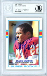 Jamie Morris Autographed 1989 Topps Rookie Card #252 Washington Redskins Beckett BAS #10739039