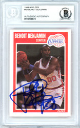 Benoit Benjamin Autographed 1989-90 Fleer Card #69 Los Angeles Clippers Beckett BAS #10739074