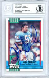 John Grimsley Autographed 1990 Topps Card #224 Houston Oilers Beckett BAS #10739296