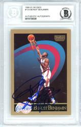 Benoit Benjamin Autographed 1990-91 Skybox Card #124 Los Angeles Clippers Beckett BAS #10739339