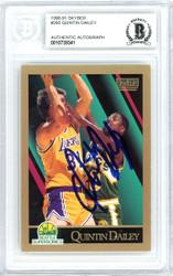 Quintin Dailey Autographed 1990-91 Skybox Card #265 Seattle Super Sonics Beckett BAS #10739341
