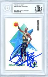 Benoit Benjamin Autographed 1991-92 Skybox Card #266 Seattle Super Sonics Beckett BAS #10739412