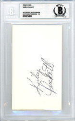 Kirby Puckett Autographed 3x5 Index Card Minnesota Twins Vintage Rookie Era Signature Beckett BAS #10734077