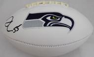 Sale!! Frank Clark Autographed White Seattle Seahawks Logo Football MCS Holo Stock #137956