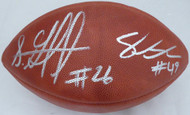 Shaquem & Shaquill Griffin Autographed Official NFL Leather Football Seattle Seahawks (Flat) MCS Holo #79415