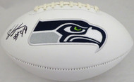 Shaquem Griffin Autographed Seattle Seahawks White Logo Football (Smudged) MCS Holo #79406