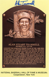 Sale!! Alan Trammell Autographed HOF Postcard Detroit Tigers Beckett BAS Stock #137993