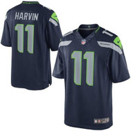 Percy Harvin Unsigned Seattle Seahawks Blue Nike Twill Jersey Size XL Stock #138436