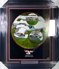 "Dale Earnhardt Autographed Framed Sam Bass Print Lithograph Photo ""360 degrees"" Beckett BAS #A88634"