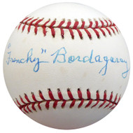 """Frenchy"" Bordagary Autographed Official NL Baseball Brooklyn Dodgers Beckett BAS #F26218"