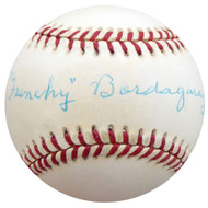 """Frenchy"" Bordagary Autographed Official NL Baseball Brooklyn Dodgers Beckett BAS #F26219"