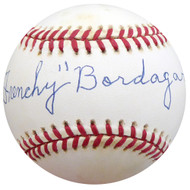 """Frenchy"" Bordagary Autographed Official NL Baseball Brooklyn Dodgers Beckett BAS #F26221"