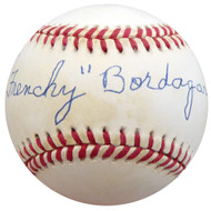 """Frenchy"" Bordagary Autographed Official NL Baseball Brooklyn Dodgers Beckett BAS #F26222"