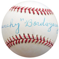 """Frenchy"" Bordagary Autographed Official NL Baseball Brooklyn Dodgers Beckett BAS #F26223"