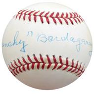 """Frenchy"" Bordagary Autographed Official NL Baseball Brooklyn Dodgers Beckett BAS #F26224"