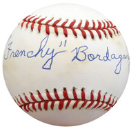 """Frenchy"" Bordagary Autographed Official AL Baseball Brooklyn Dodgers Beckett BAS #F26225"