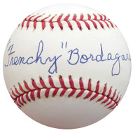 """Frenchy"" Bordagary Autographed Official NL Baseball Brooklyn Dodgers Beckett BAS #F26226"