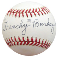 """Frenchy"" Bordagary Autographed Official NL Baseball Brooklyn Dodgers Beckett BAS #F26227"