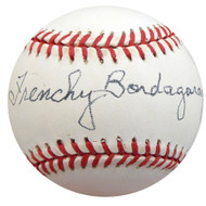 """Frenchy"" Bordagary Autographed Official NL Baseball Brooklyn Dodgers Beckett BAS #F26228"
