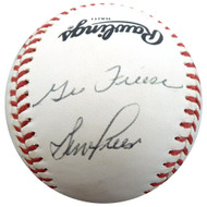 George & Gene Freese Autographed Official NL Baseball Beckett BAS #F26653