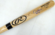 "Al Kaline Autographed Blonde Rawlings Bat Detroit Tigers ""HOF 80"" Beckett BAS Stock #139812"