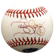 Terrence Long Autographed Official MLB Baseball New York Yankees, Oakland A's Beckett BAS #F29491