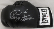 Sale!! George Foreman Autographed Black Everlast Boxing Glove LH Signed In Silver JSA Stock #140636