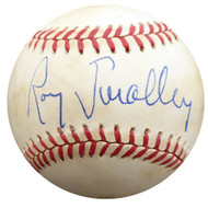 Roy Smalley Sr. Autographed Official NL Baseball Milwaukee Braves, Chicago Cubs Beckett BAS #F27485
