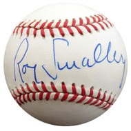 Roy Smalley Sr. Autographed Official NL Baseball Milwaukee Braves, Chicago Cubs Beckett BAS #F27486