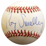 Roy Smalley Sr. Autographed Official NL Baseball Milwaukee Braves, Chicago Cubs Beckett BAS #F27487